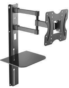 MACLEAN MC-771 TV WALL MOUNT 23-42'' WITH SHELF