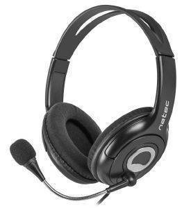 NATEC NSL-1178 BEAR 2 HEADPHONES WITH MICROPHONE BLACK