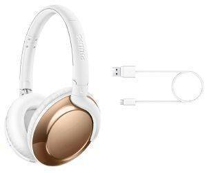 PHILIPS FLITE WIRELESS OVER-EAR BLUETOOTH HEADSET GOLD