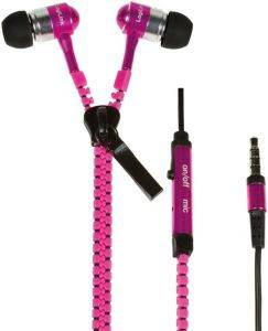 LOGILINK HS0022 ZIPPER STEREO IN-EAR HEADSET NEON PINK