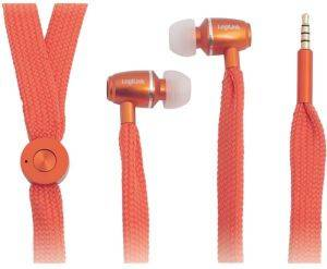 LOGILINK HS0027 STRING EARPHONE WITH INLINE MICROPHONE ORANGE