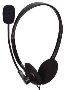 GEMBIRD MHS-123 STEREO HEADSET WITH VOLUME CONTROL BLACK