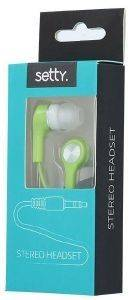 SETTY STEREO EARPHONES GREEN