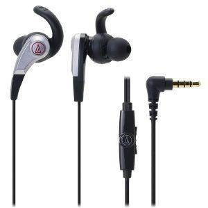 AUDIO TECHNICA ATH-CKX5IS SONICFUEL IN-EAR HEADPHONES WITH IN-LINE MIC & CONTROL BLACK
