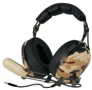 ARCTIC P533 MILITARY OVER-EAR GAMING HEADPHONES WITH BOOM MICROPHONE