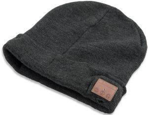 4SMARTS BASIC WIRELESS HEADSET BEANIE WITH CUFF BLACK