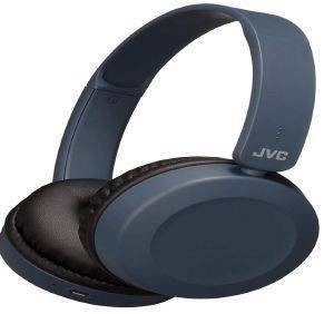 JVC HA-S31BT-A FLAT FOLDABLE WIRELESS BLUETOOTH HEADPHONES WITH BUILT-IN MICROPHONE BLUE