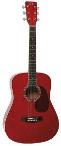ΑΚΟΥΣΤΙΚΗ ΚΙΘΑΡΑ GEWAPURE VGS D-10 MINI DREADNOUGHT TRANSPARENT RED