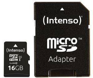INTENSO 3423470 16GB MICRO SDHC UHS-I PREMIUM CLASS 10 + SD ADAPTER