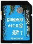 ΜΝΗΜΕΣ-SECURE DIGITAL - KINGSTON SDA10/64GB 64GB SDXC CLASS 10 UHS-I ULTIMATE FLASH CARD