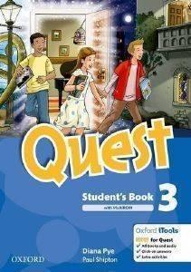 QUEST 3 STUDENTS BOOK - MULTIROM+READER βιβλία εκμαθηση ξενων γλωσσων αγγλικα