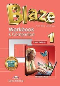 BLAZE 1 WORKBOOK - COMPANION STUDENTS BOOK βιβλία εκμαθηση ξενων γλωσσων αγγλικα