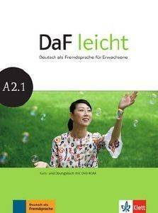 DAF LEICHT A2.1 KURSBUCH - ARBEITSBUCH (+ DVD-ROM) βιβλία εκμαθηση ξενων γλωσσων γερμανικα
