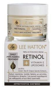 ΚΡΕΜΑ LEE HATTON, RETINOL- TRIPLE ACTION FACE 50ML καλλυντικά  amp  αρώματα προσωπο αντιγηρανση κρεμα