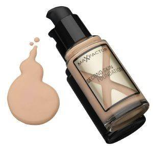 MAKE-UP MAX FACTOR, SECOND SKIN FOUNDATION NO 045 WARM ALMOND 30ML