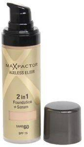 MAKE-UP MAX FACTOR AGELESS ELIXIR 2 IN 1 FOUNDATION + SERUM NO 60 SAND