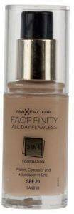 MAKE-UP MAX FACTOR FACE FINITY ALL DAY FLAWLESS 3 IN 1 FOUNDATION NO 60 SAND