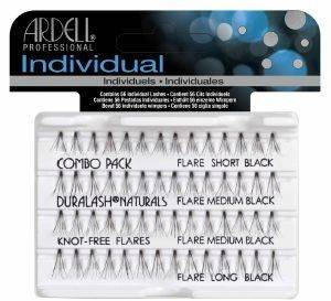DURALASH INDIVIDUAL STARTER KIT KNOTTED COMBO BLACK ARDEL