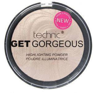 TECHNIC GET GORGEOUS BRONZING HIGHLIGHTING POWDER ΡΟΖ 12GR
