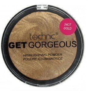 TECHNIC GET GORGEOUS GOLD HIGHLIGHTING POWDER 24CT GOLD 12GR