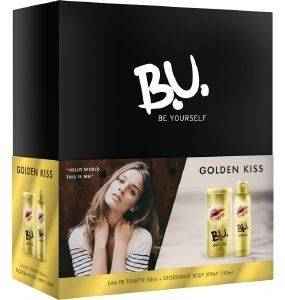 ΣΕΤ B.U GOLDEN KISS EDT 50ML+ DEO150ML καλλυντικά  amp  αρώματα δωρα σετ για τη γυναικα