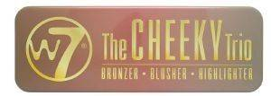 HIGHLIGHTER -BRONZER-BLUSHER W7 CHEEKY TRIO 21GR