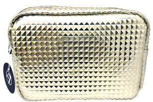 W7 CROCODILE GOLD COSMETIC BAG 25Χ20CM