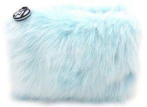 W7 SKY BLUE FURRY BAG 20Χ15CM