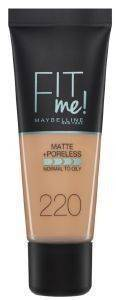 MAKE UP MAYBELLINE FIT ME MATTE AND PORELESS FOUNDATION 220 NATURAL BEIGE (30ML)
