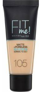 MAKE UP MAYBELLINE FIT ME MATTE AND PORELESS FOUNDATION 105 NATURAL IVORY (30ML