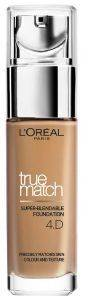 L'OREAL TRUE MATCH FOUNDATION 4D/4W GOLDEN NATURAL 30ML