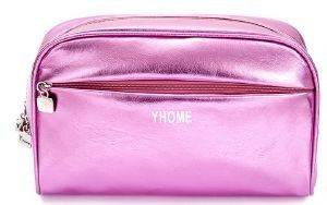 ΝΕΣΕΣΕΡ J.K STAR NAILS METALLIC MAKE UP BAG DARK ROSE ΡΟΖ