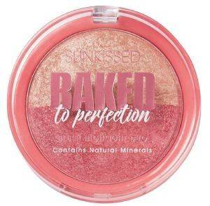 HIGHLIGHTER SUNKISSED BAKED TO PERFECTION BLUSH & HIGHLIGHT DUO