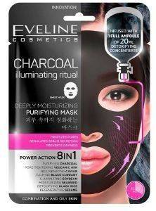 ΜΑΣΚΑ ΠΡΟΣΩΠΟΥ EVELINE CHARCOAL ILLUMINATING RITUAL-280