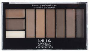 ΠΑΛΕΤΑ ΦΡΥΔΙΩΝ MUA BROW PROFESSIONAL COMPLET KIT MID/DARK