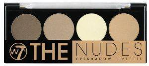 ΠΑΛΕΤΑ ΣΚΙΩΝ W7 THE NUDES EYESHADOW PALETTE 4X1.4GR