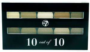 ΠΑΛΕΤΑ ΣΚΙΩΝ W7 PERFECT 10 EYESHADOW PALETTE - BROWNS 10GR