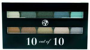 ΠΑΛΕΤΑ ΣΚΙΩΝ W7 PERFECT 10 EYESHADOW PALETTE SHIMMER NUDES 10GR