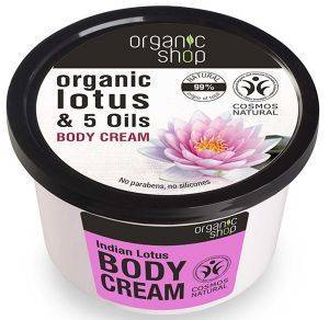 ΚΡΕΜΑ ΣΩΜΑΤΟΣ ORGANIC SHOP INDIAN LOTUS BODY CREAM 250ML