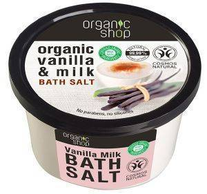 ΑΛΑΤΑ ΜΠΑΝΙΟΥ ORGANIC SHOP BATH SALT VANILLA MILK 250ML