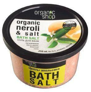 ΑΛΑΤΑ ΜΠΑΝΙΟΥ ORGANIC SHOP BATH SALT ORANGE BLOSSOM  250ML