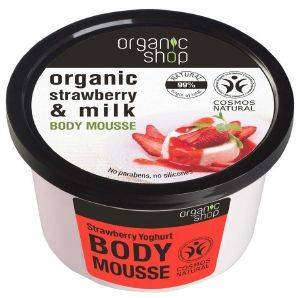 ΕΝΥΔΑΤΙΚΗ ΜΟΥΣ ΣΩΜΑΤΟΣ ORGANIC SHOP STRAWBERRY YOGHURT BODY MOUSSE 250ML