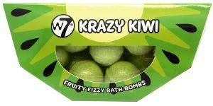 BATH BOMBS W7 FRUITY FIZZY KRAZY KIWI 10 X 10G