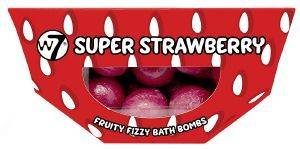 BATH BOMBS W7 FRUITY FIZZY SUPER STRAWBERRY 10 X 10G
