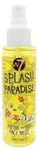 PRIME AND SET FACE MIST W7 SPLASH OF PARADISE  LUSH LEMON ICE 100ML