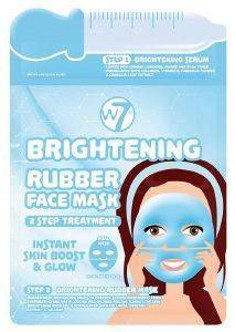 ΜΑΣΚΑ ΠΡΟΣΩΠΟΥ W7 BRIGHTENING 2 STEP TREATMENT RUBBER FACE MASK