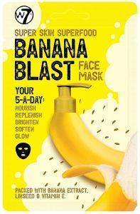 ΜΑΣΚΑ ΠΡΟΣΩΠΟΥ W7 SUPER SKIN SUPERFOOD FACE MASK - BANANA BLAST 18GR