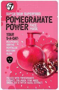 ΜΑΣΚΑ ΠΡΟΣΩΠΟΥ W7 SUPER SKIN SUPERFOOD FACE MASK - POMEGRANATE POWER 18GR