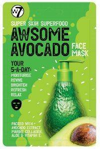 ΜΑΣΚΑ ΠΡΟΣΩΠΟΥ W7 SUPER SKIN SUPERFOOD FACE MASK - AWSOME AVOCADO 18GR