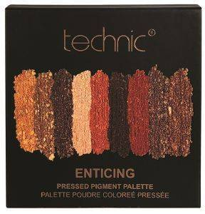 ΠΑΛΕΤΑ ΣΚΙΩΝ TECHNIC ENTICING PRESSED PIGMENT PALETTE 9Χ1,2GR